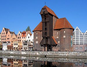 Old Crane Gate in Gdańsk, Poland