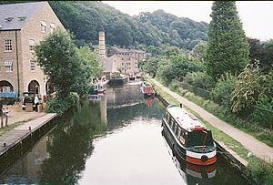 Rochdale Canal at Hebden Bridge.