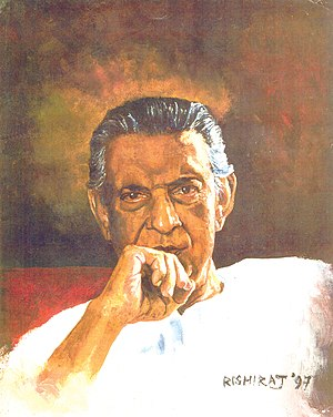 Portrait of Satyajit Ray created by me in 1997...