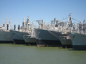 English: Some of the ships of the Suisun Bay R...
