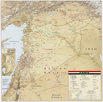 An enlargeable relief map of Syria