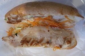 Chicken breast sandwich, Vietnamese restaurant...