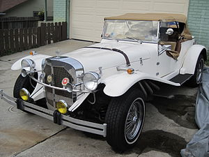 A Mercedes Gazelle kit car.