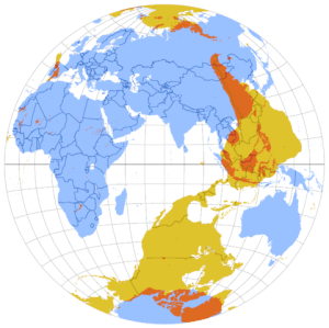 The antipodes of each point on the Earth's surface
