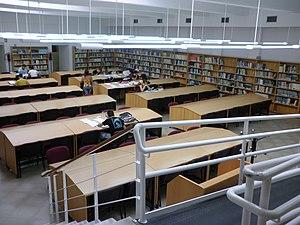 Español: Biblioteca de la Facultad de Ciencias...