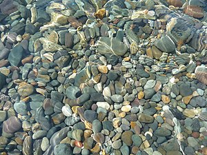 Water and stones in the Black sea. Photo taken...