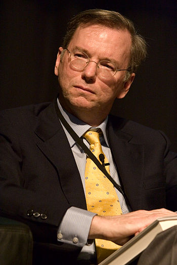 English: Eric E. Schmidt, Chairman and CEO of ...