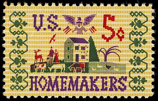 Homemakers 5c 1964 issue U.S. stamp