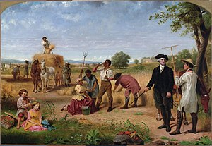 """Washington as Farmer at Mount Vernon&quo..."