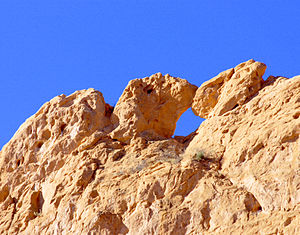 Kissing Camels red rocks from inside Garden of...