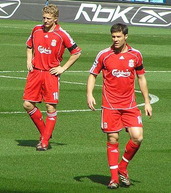 Dirk Kuyt and Xabi Alonso