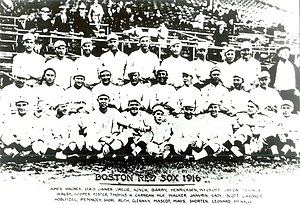 Team photo of the 1916 version of the Boston R...
