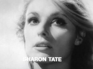 Cropped screenshot of Sharon Tate from the tra...