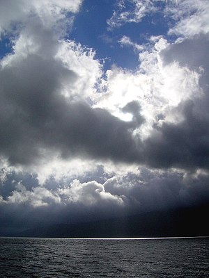 English: Skyscape, Sound of Sleat. Skye is onl...