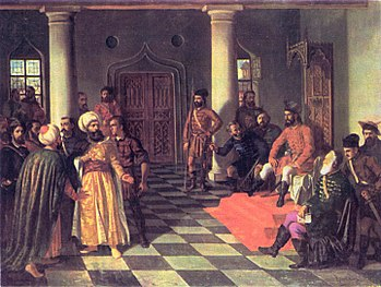 Vlad Tepes y los enviados turcos, de Theodor Arman (1831-1891).