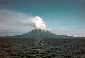 Sakurajima eruption in 1974. Japan has 108 act...