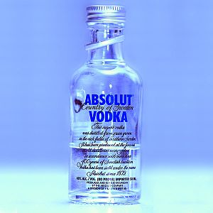 Image of an Absolut Vodka bottle, imported fro...
