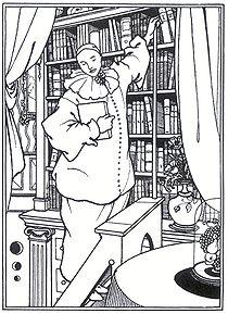 copertina di un libro della serie Pierrot's Library, 1896.
