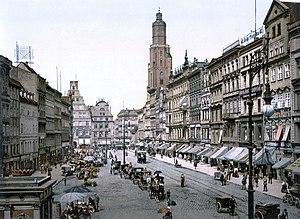 Market Square in Breslau, Germany (now Wrocław...