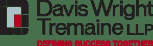 "Wordmark that spells out ""Davis Wright Tr..."