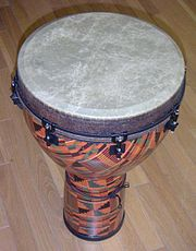 Acoustic shell djembe