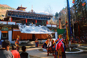 The Gompa being performed in Lachung during th...