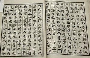 Replica of Hunmin Jeongeum Haerye, the book in...