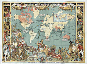 A map of the world in 1886: areas under Britis...