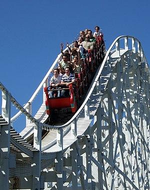 The Scenic Railway at Luna Park (Melbourne, Au...