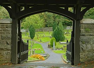 English: Lychgate, St Malachi's, Hillsborough ...