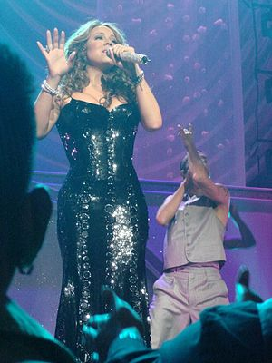 Mariah Carey performing live in Las Vegas