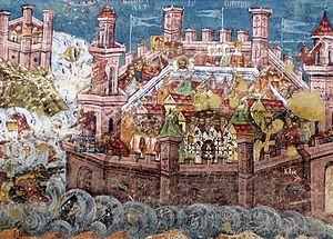 English: The Siege of Constantinople (Moldoviţa)