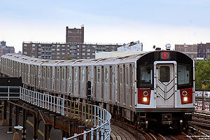 A New York City Subway 6 train of R142A stock ...