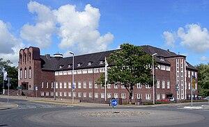 Deutsch: Das Ludwig-Nissen-Haus in Husum mit d...