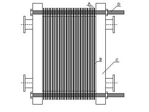 English: Plate heat exchanger LS