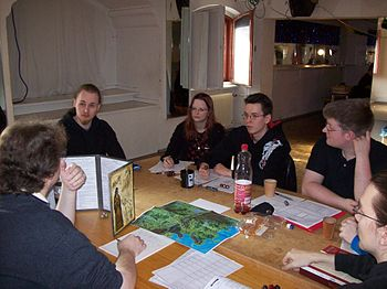 English: Role Playing Gamers at the Burg-Con i...