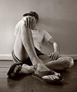 Man in flip-flops