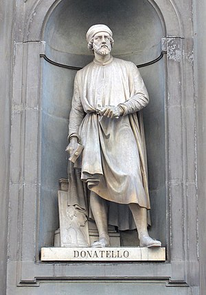 Italiano: Statua di Donatello, sita a Firenze ...
