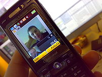 Video call between Sweden and Singapore, on Sony Ericsson K800 over a UMTS mobile network