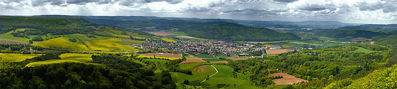 File:20120519 000006 Wanfried Panorama vom Plesseturm aus Nord-Ost.jpg