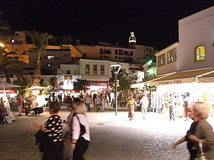 The Old Town Square in Albufeira, Algarve, Por...