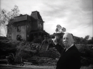 English: Alfred Hitchcock showing Norman Bates...