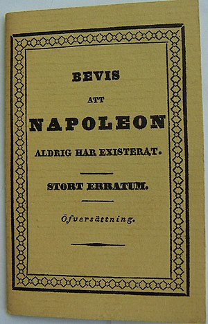 "Bevis att Napoleon aldrig existerat (""Evi..."
