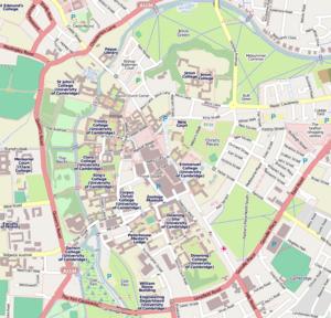Cambridge centre map