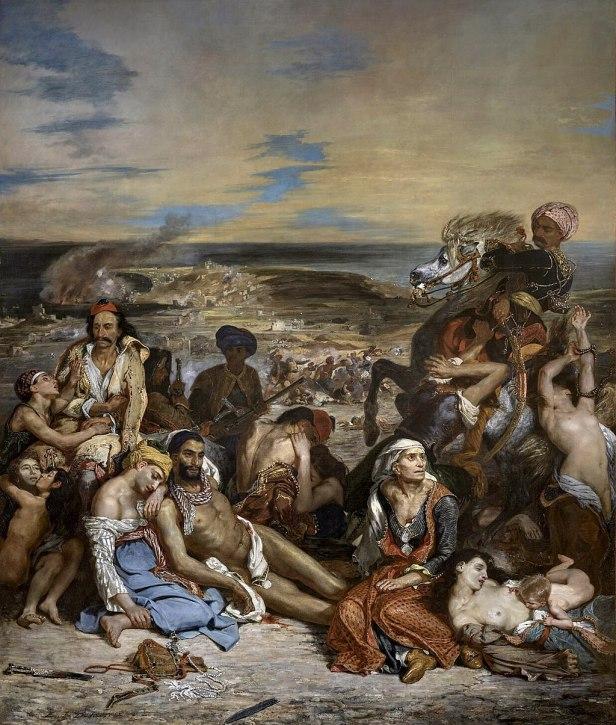 """""""The Massacre at Chios"""" byEugène Delacroix"""