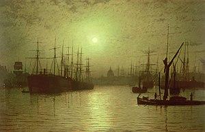 Nightfall on the Thames, 1880