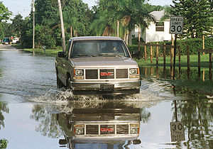 Flooding in Florida due to Hurricane Irene in ...