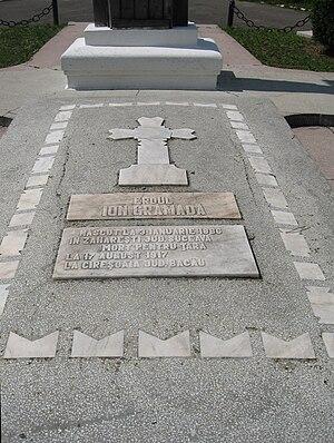 English: Mormântul lui Ion Grămadă