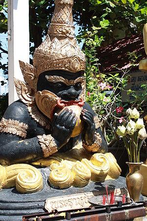 Rahu in Wat Chiangkang Sarapee Chiang Mai Thailand