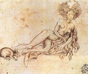 Pisanello, lussuria, Vienna-Graphische Sammlun...